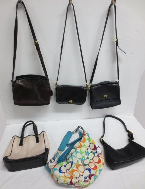 Six (6) COACH  bags / purses   - Vintage to Contempory
