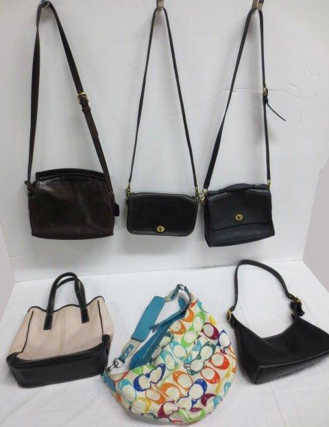 Six (6) COACH  bags / purses   - Vintage to Contempory