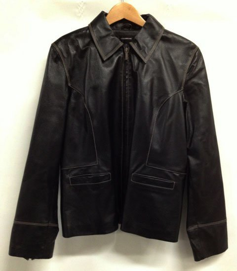 Colebrook Classics Black Leather Jacket  - Size XL
