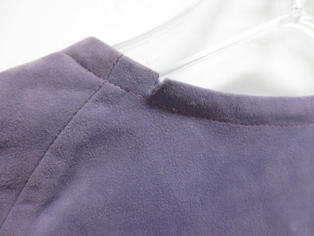 Custom made Purple Leather Skirt Suit - 8