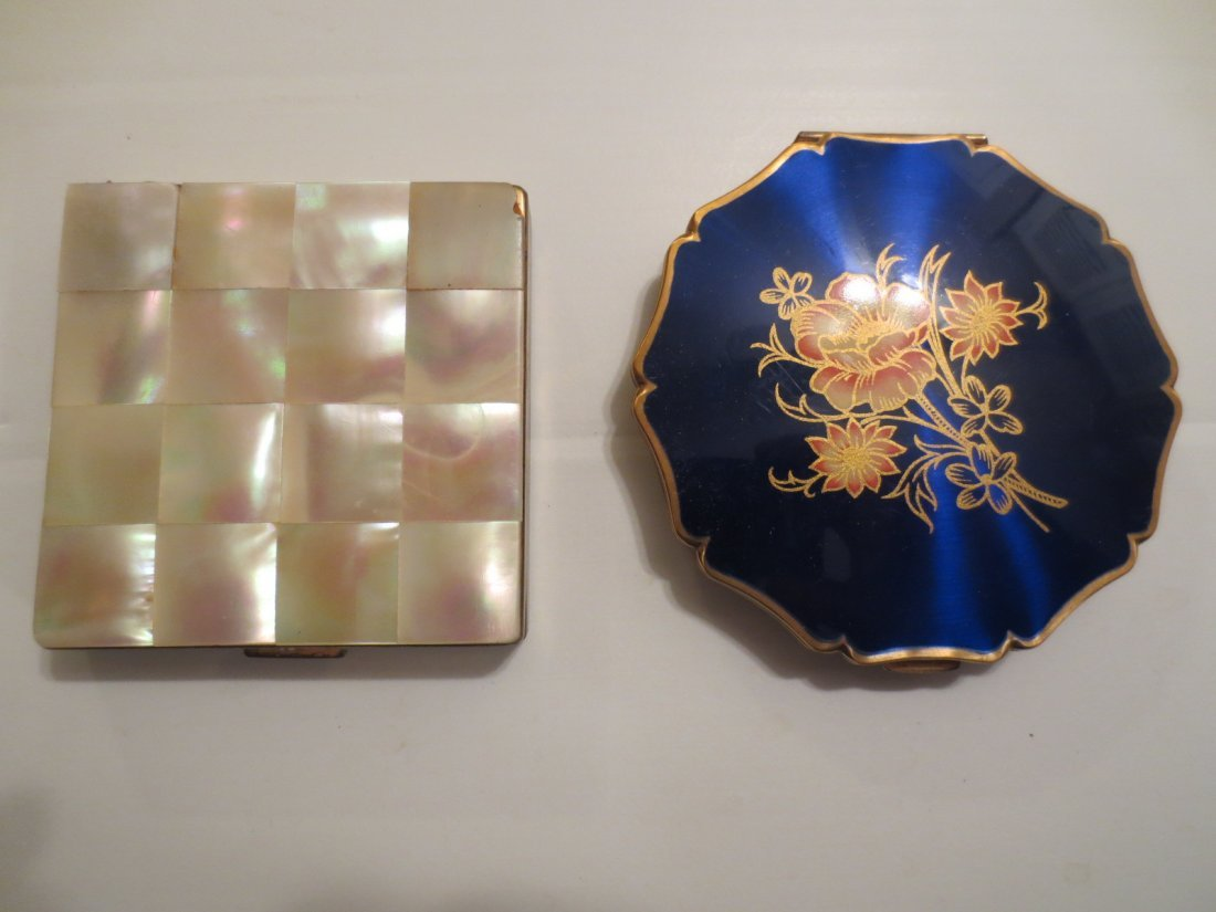 Two Vintage Compacts - MOP and Stratton England