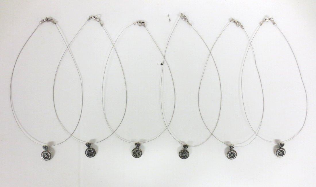 Six (6) Marcasite Celtic necklaces and pendants