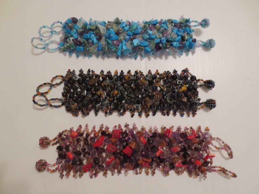 Three Hand beaded Bracelets