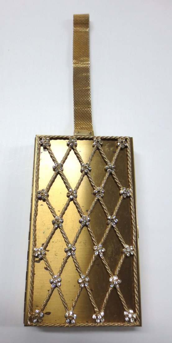 Vintage Mid-Century Gold Metal Purse