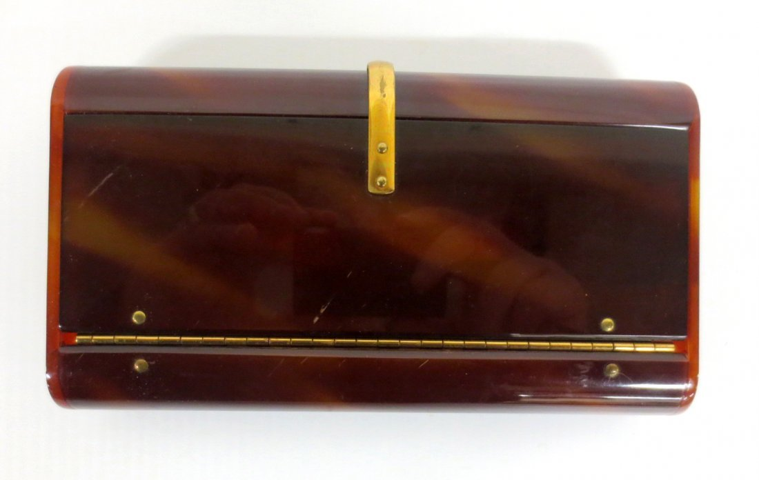Vintage Butterscotch Lucite Cllutch Purse by WILARDY