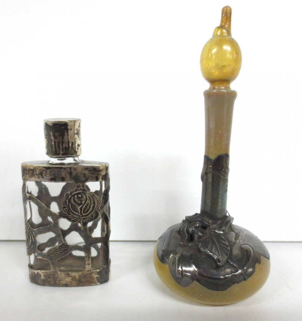 Sterling and Favrile Glass Perfume and Other Perfume