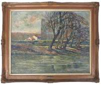 Lev Bruni (1894-1948) - Landscape EC France 1917