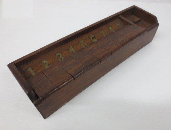 "Vintage Wood ""Shut the Box Game"" - 2"