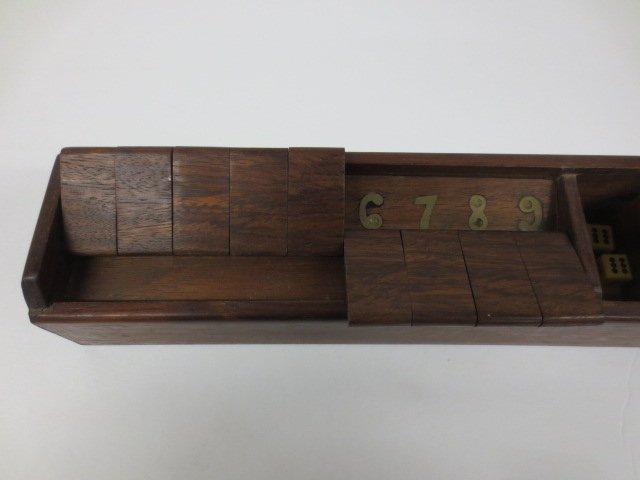 "Vintage Wood ""Shut the Box Game"" - 5"