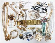 Large collection vintage costume jewelry incl pill