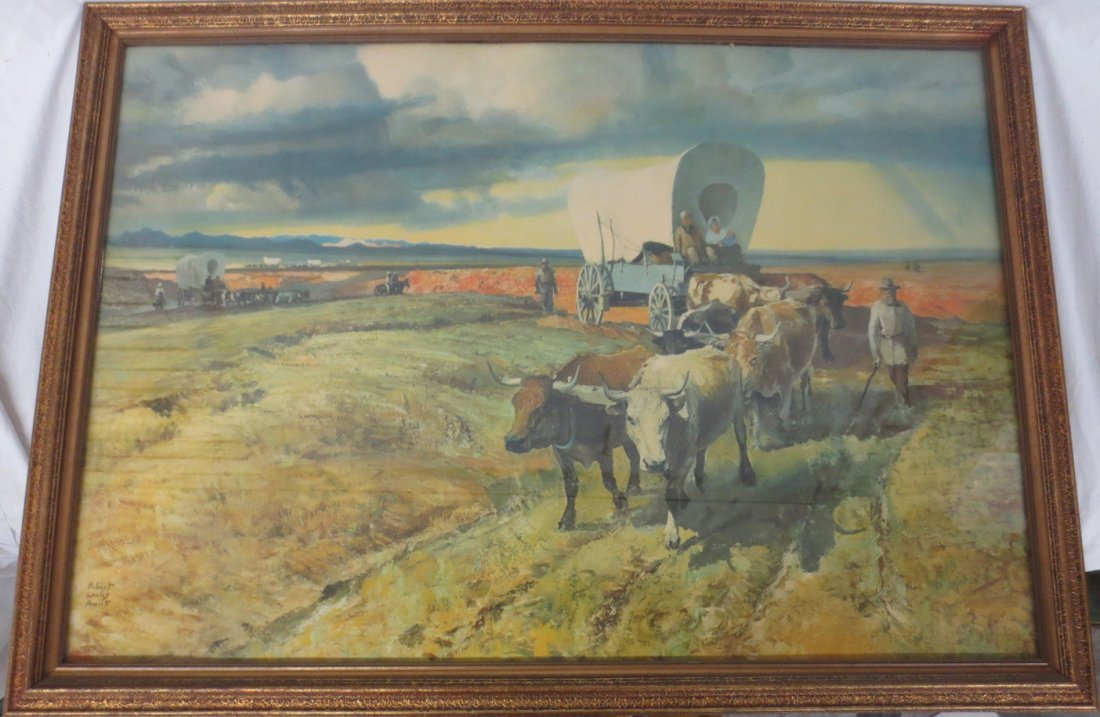 Lithograph Western Migration by Robert Wesley Amick