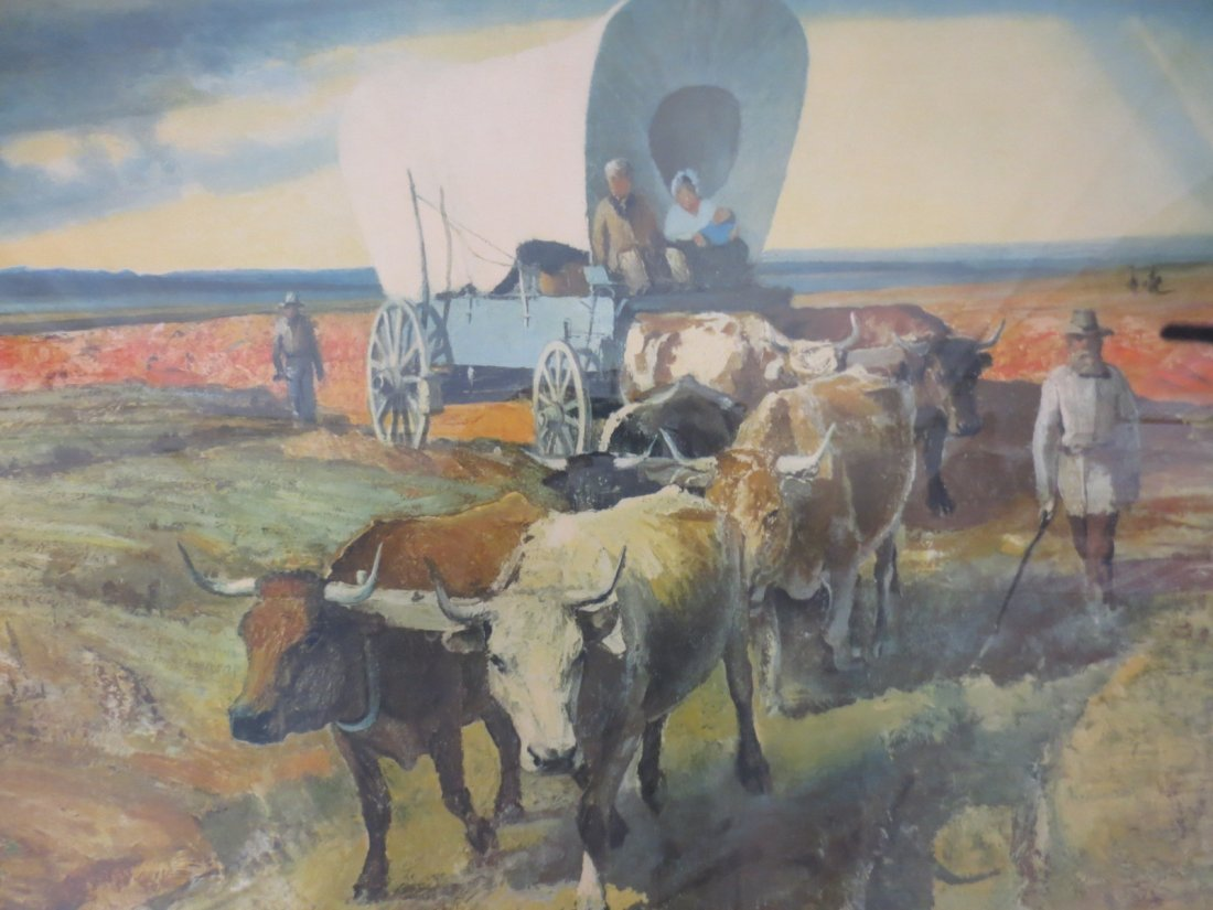 Lithograph Western Migration by Robert Wesley Amick - 2
