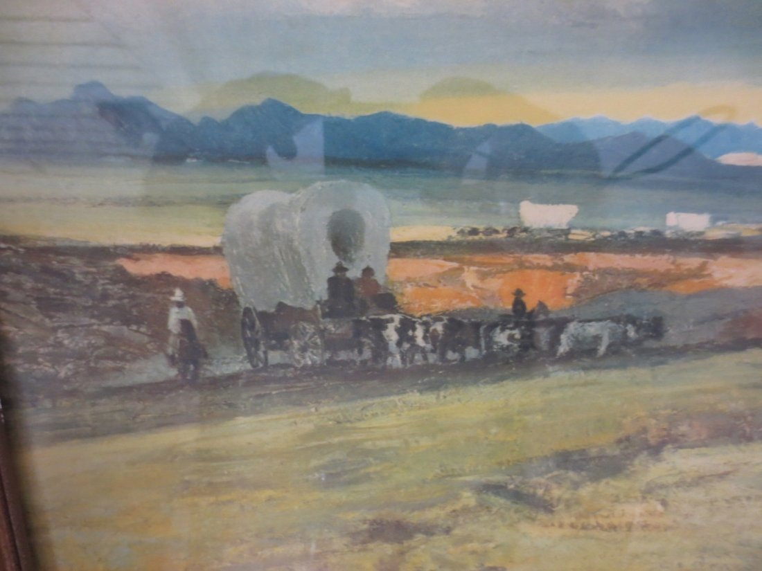 Lithograph Western Migration by Robert Wesley Amick - 4
