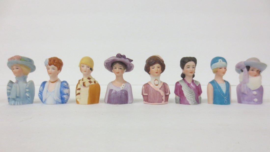 collection Avon thimble half dolls