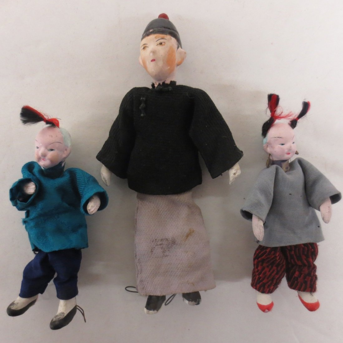 Three (3) Japanese dollhouse dolls