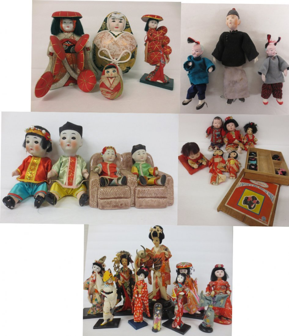 extensive Japanese doll collection