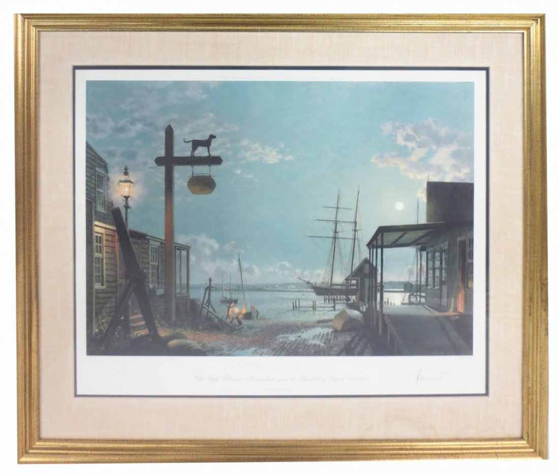 John Stobart (b.1929)  Vineyard Haven Limited Edition