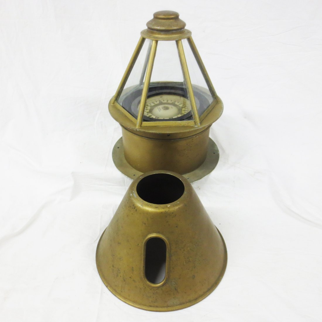 19th Century Skylight Yacht Binnacle with Hood