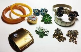 Vintage Costume Jewelry, Italian Mosaic Box