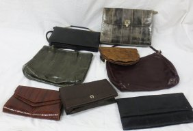Vintage Purses, Ostrich Leather, Snake And Eel Skin