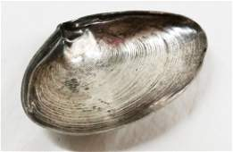 Sterling silver Wallace shell form nut dish