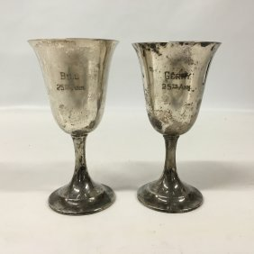 International Lord Saybrook Sterling Silver Goblets,