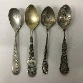 Sterling Silver Souvenir Spoons