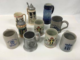 Collection Of Beer Steins And Mugs