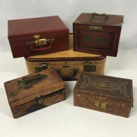 Carrying Cases Incl. Antique Lap Desk, Chinese Mahjong