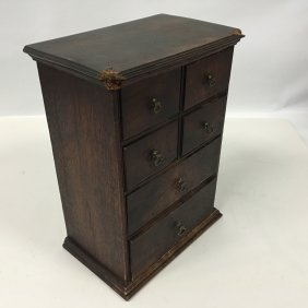 Early Six (6) Drawer Spice Chest