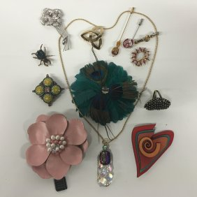 Jewelry: Broaches And Pins, Glass, Gemstone Bug