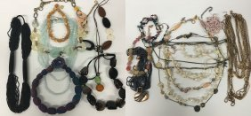 Big Gaudy Jewelry Collection, Beads And Gemstones