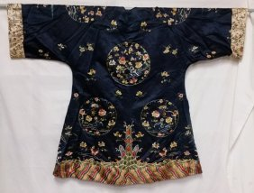 Antique Japanese Silk Embroidered Kimono