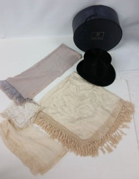 Brooks Brothers Top Hat With Dress Scarf And Linens