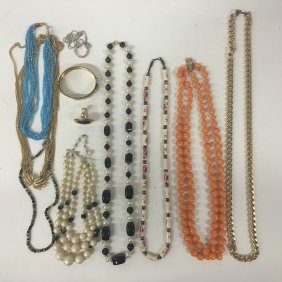 Trifari Multi Strand Necklace With Collection Of