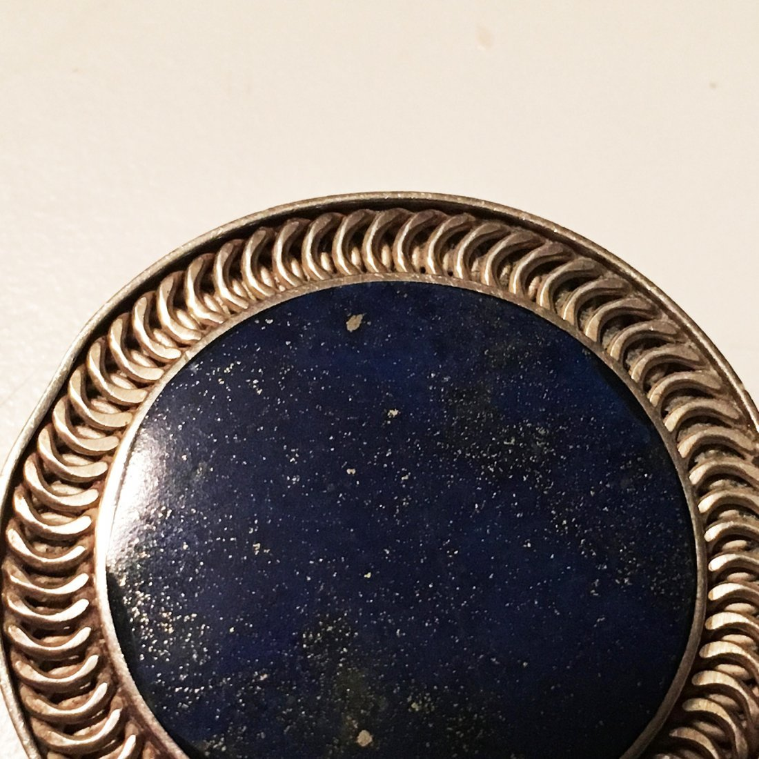 970 Sterling silver and lapis pin pendant - 2