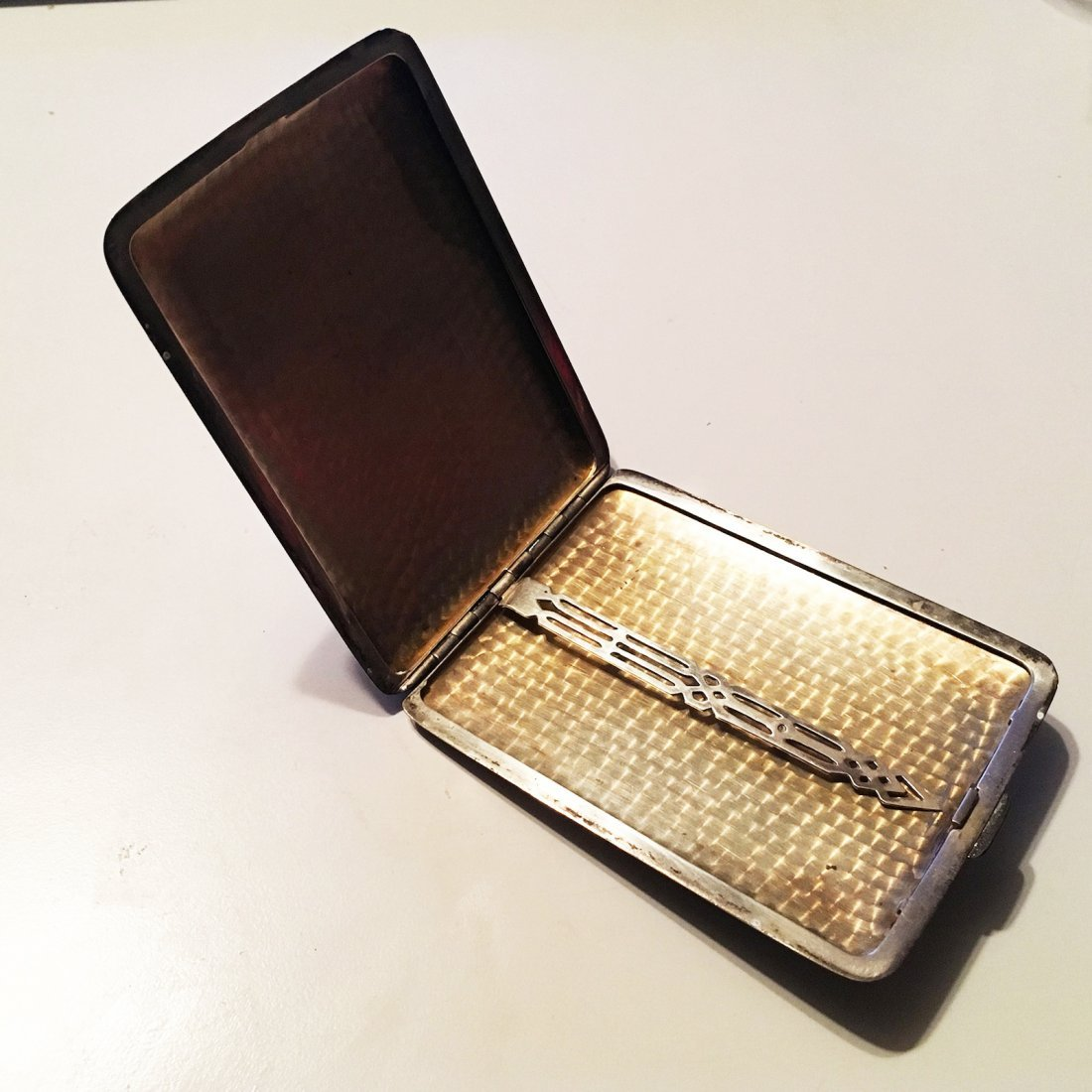 Sterling silver card or cigarette case