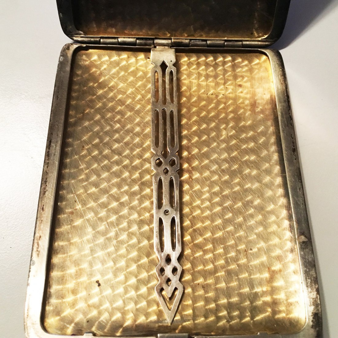 Sterling silver card or cigarette case - 5