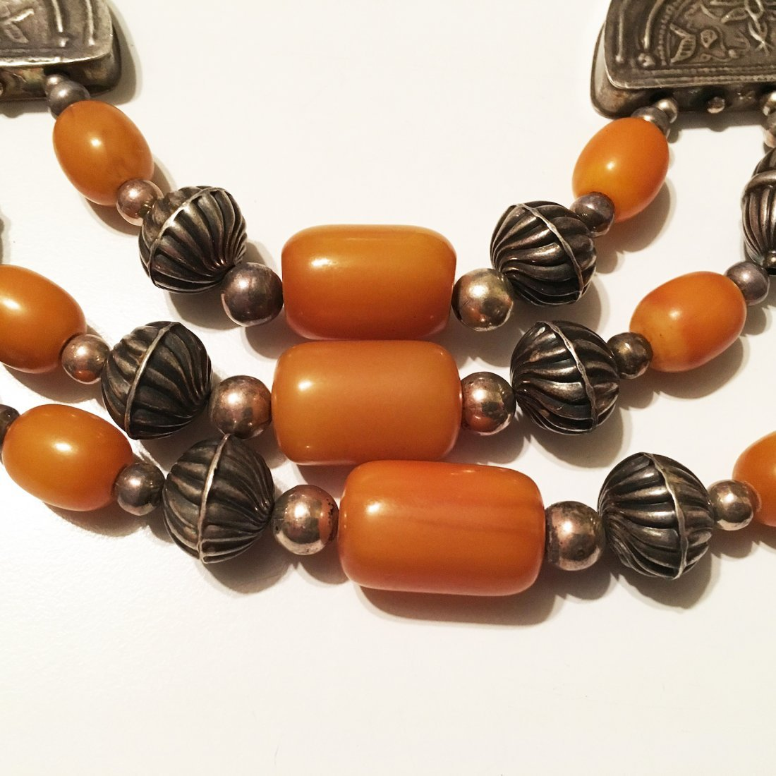 Sterling Silver and Amber Necklace - 3