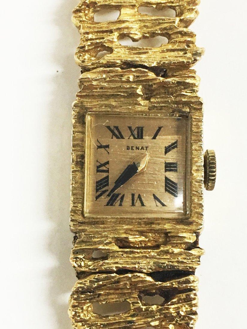 14K BENAT Yellow Gold Ladies Wristwatch