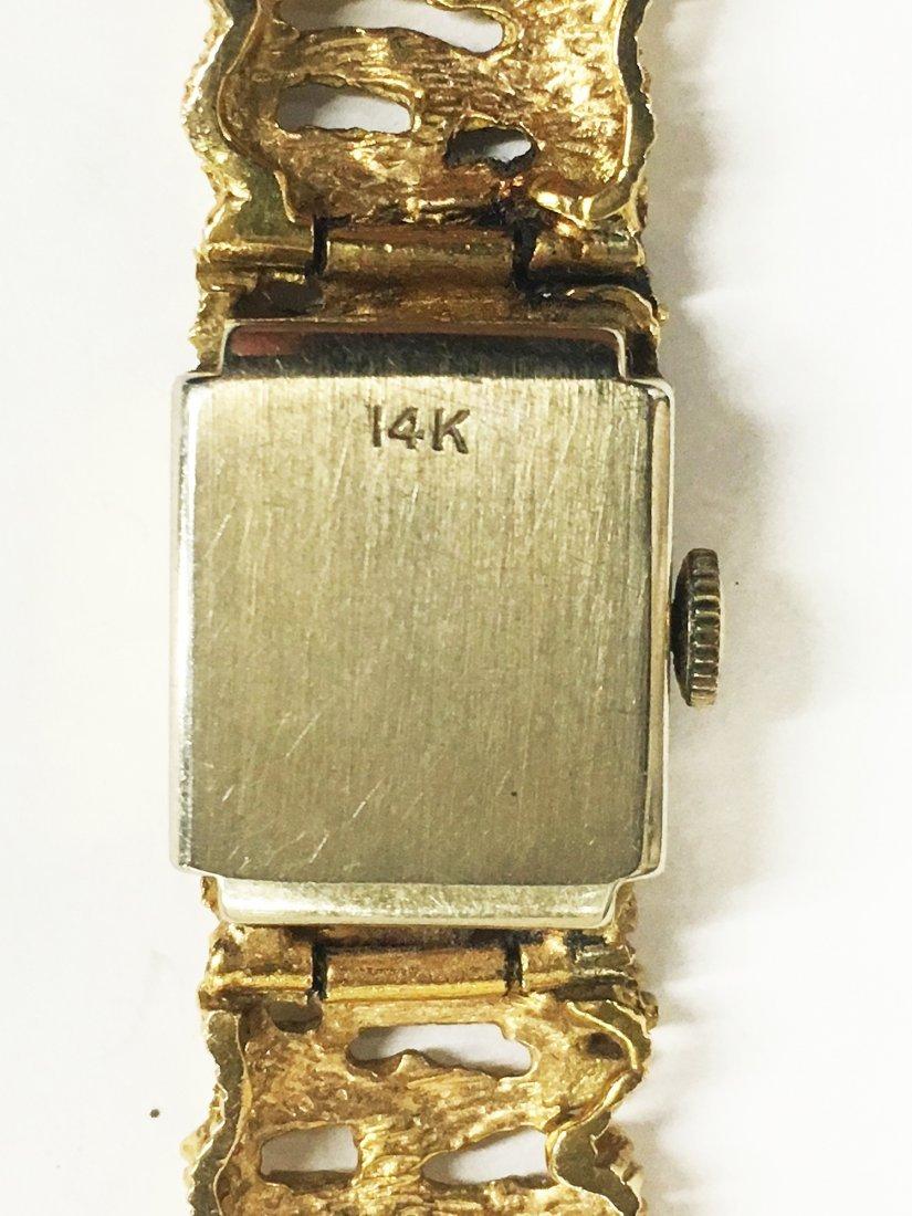 14K BENAT Yellow Gold Ladies Wristwatch - 3