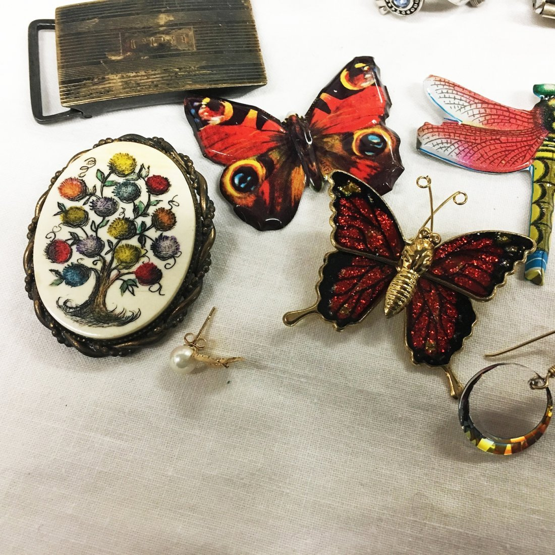 Costume Jewelry collection: Dragonfly, butterflies - 2