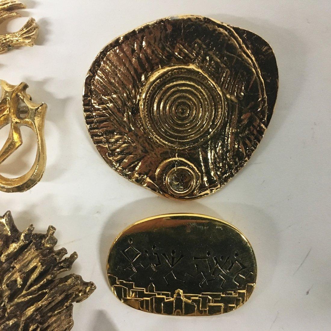 Jewish Org. Ceremonial Pins, Judaica - Rachel Gera - 3