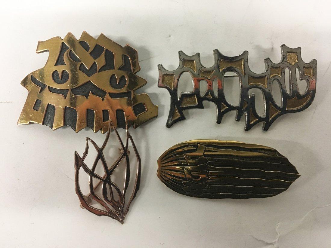 Four (4) Pins By Yehuda Ludwig Wolpert