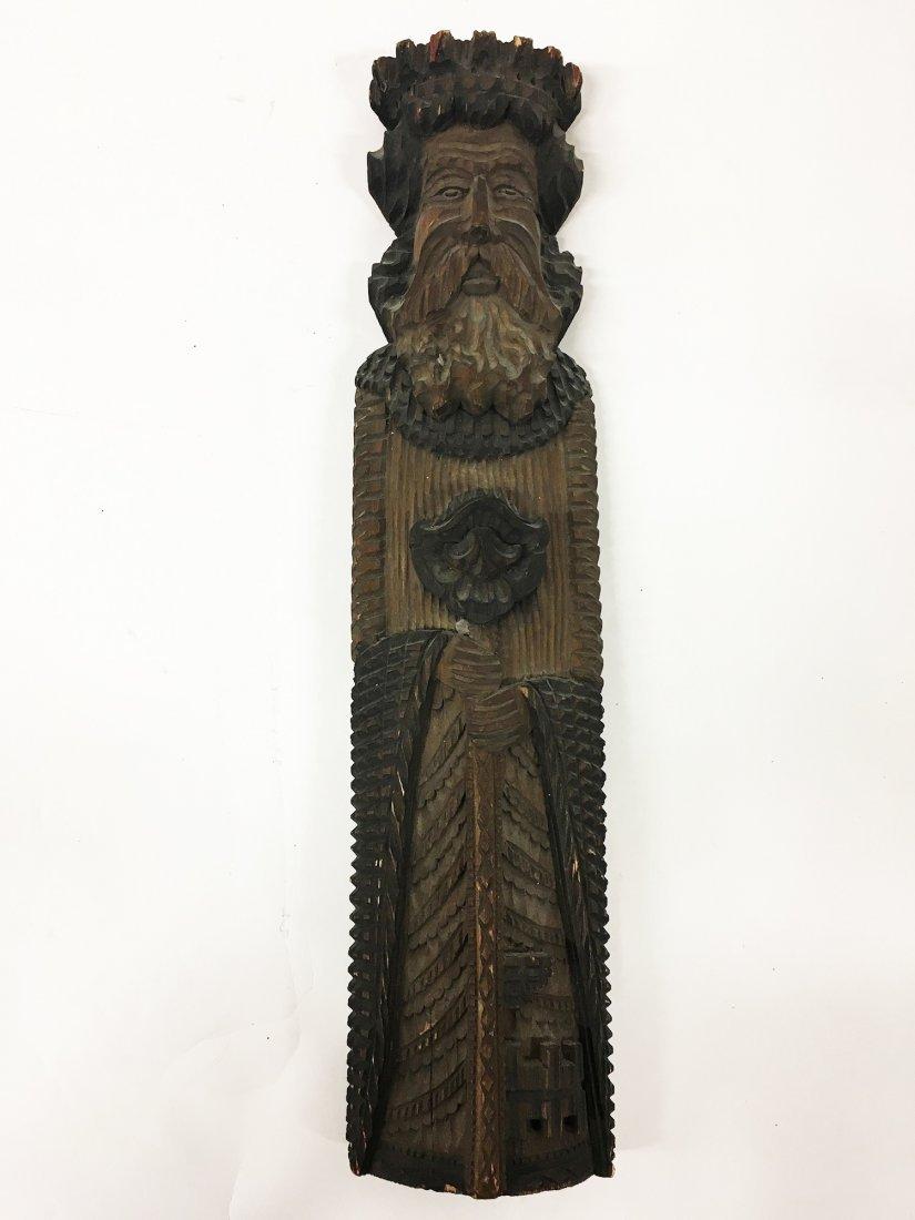 Tramp Art Carved figure of Elder