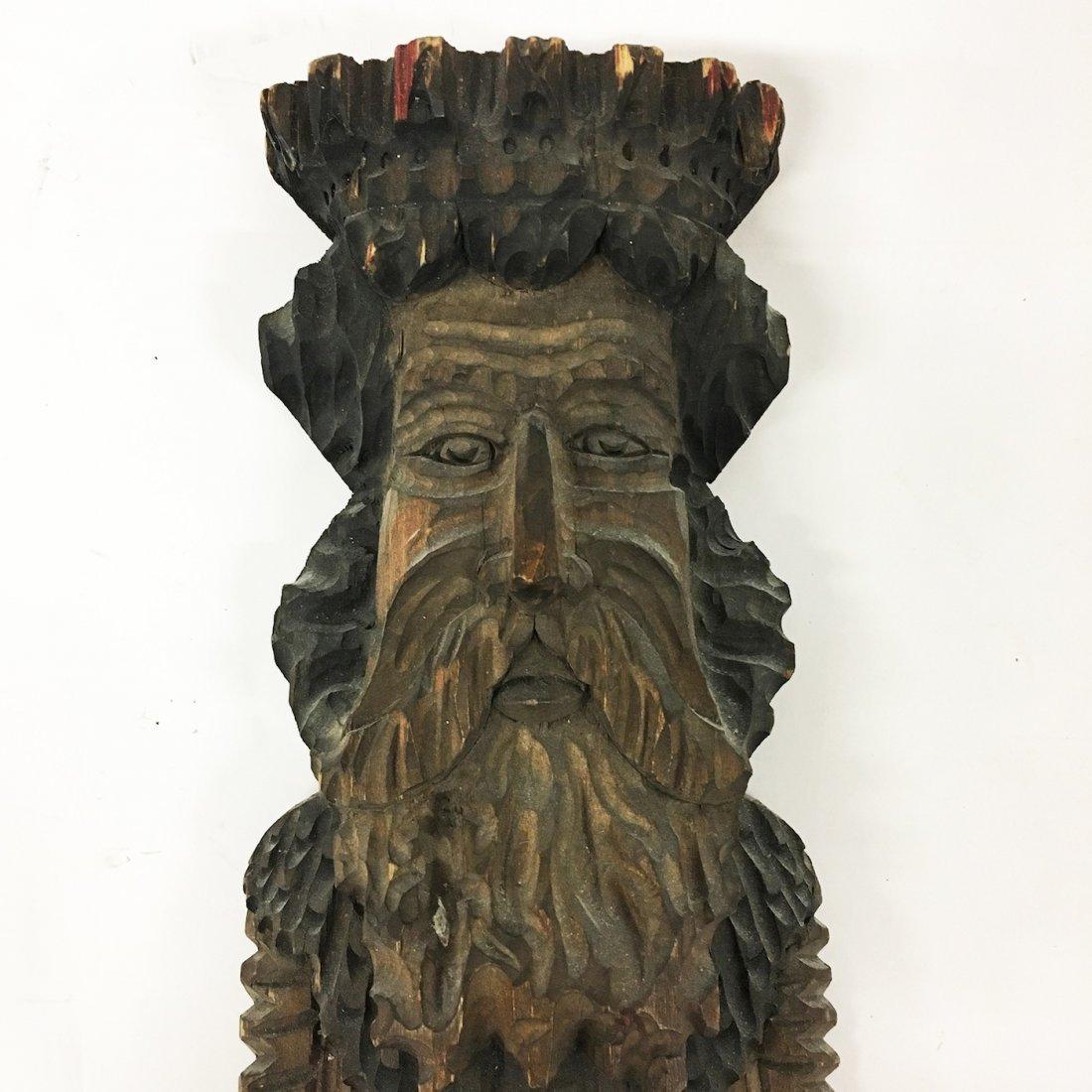 Tramp Art Carved figure of Elder - 2