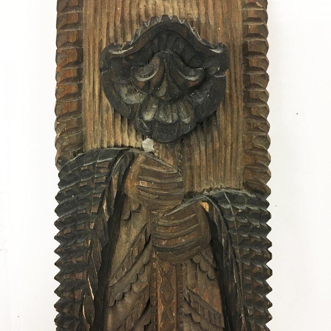Tramp Art Carved figure of Elder - 3