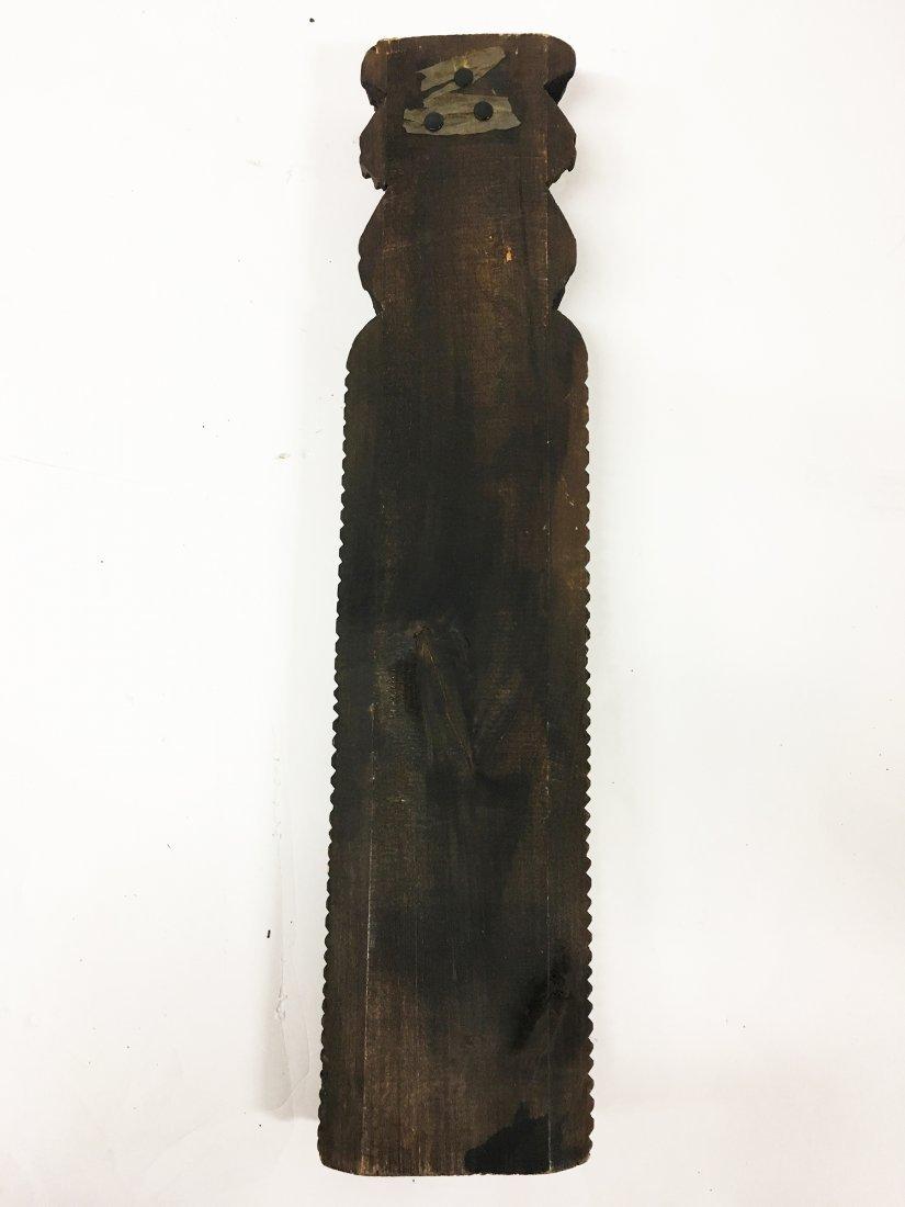 Tramp Art Carved figure of Elder - 4