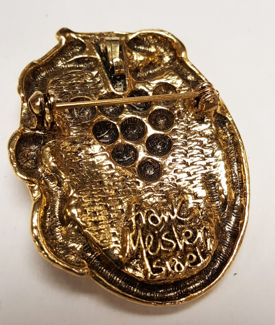 Frank Meisler Judaica pin and Sterling Jewish & - 2