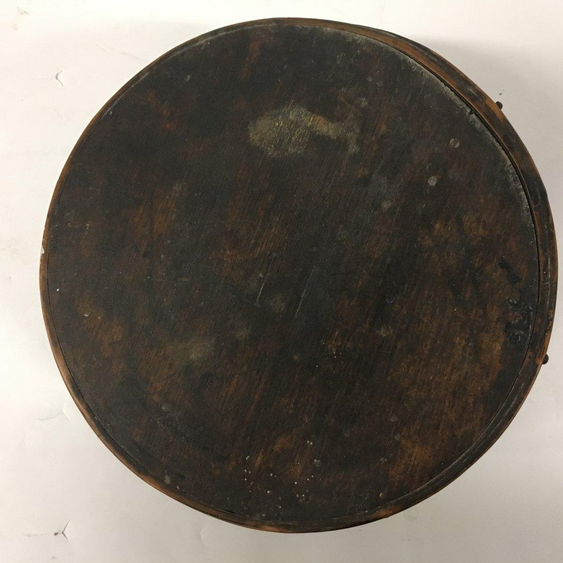 Original Dark Stain Primitive Round Pantry Box - 2